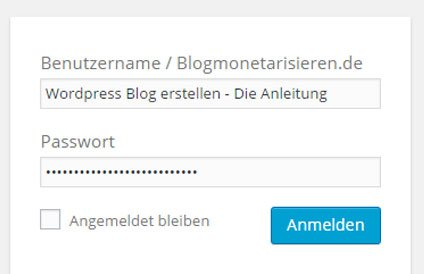 wordpress-anleitung-log