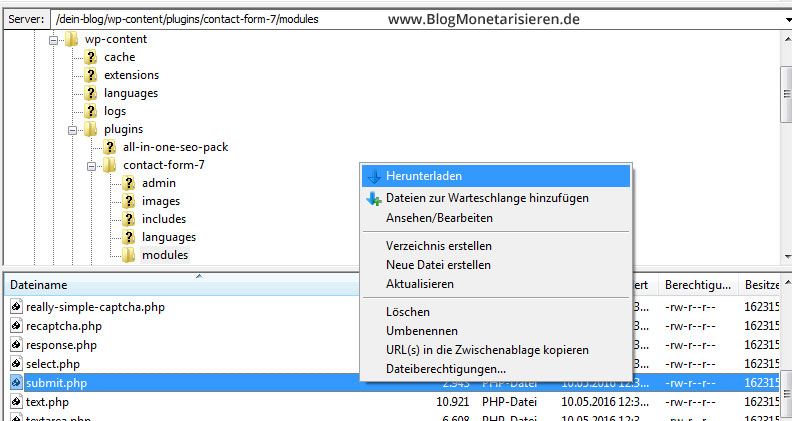 filezilla-wordpress-ftp-programm