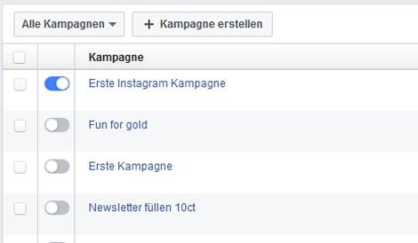 facebook werbung kampagnen